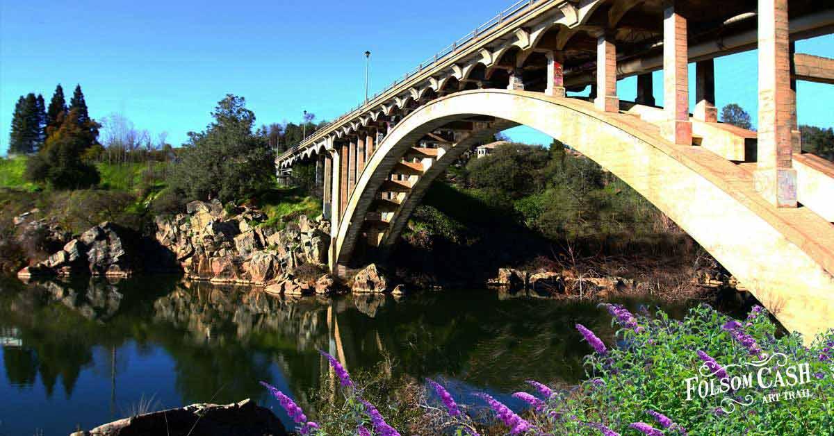 Rainbow Bridge over American River in Folsom