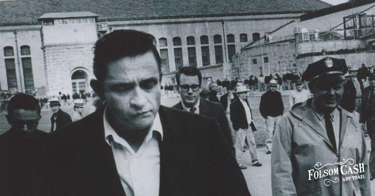 Johnny Cash Walking Into Folsom Prison
