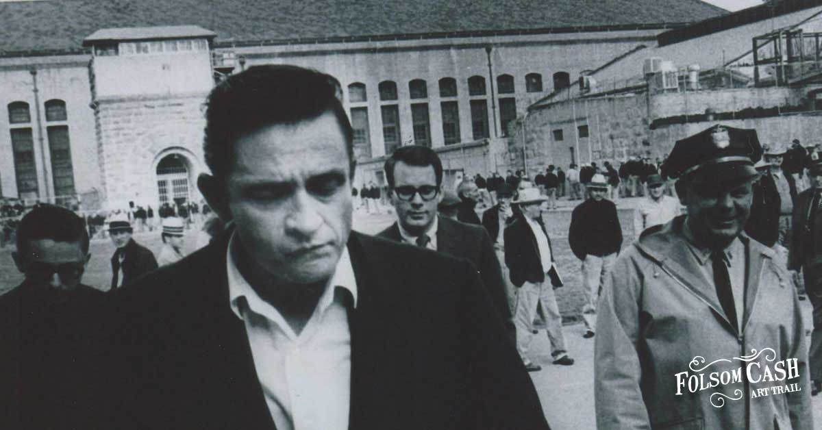 Johnny Cash Walking Into Folsom Prison